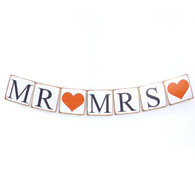 Retro Garland MR & MRS for Wedding Party