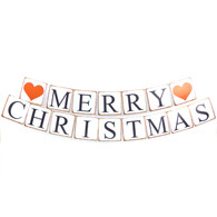 Retro Garland Merry Christmas Party Decoration