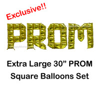 Exclusive! 30-inch DIY Square PROM Foil Balloon Set