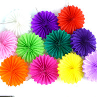 10pcs Tissue Paper Fan Decoration in 15cm/25cm