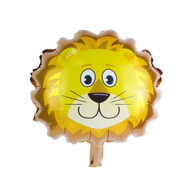 "Mini 14"" Lion Head Cartoon Animal Balloon"