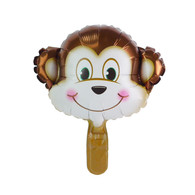 "Mini 14"" Monkey Head Cartoon Animal Balloon"
