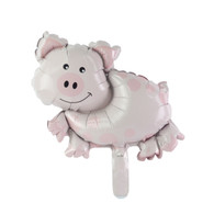 "Mini 14"" Pig Farm Animal Balloon"