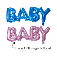 "12"" BABY Series Letter Balloon ( Pink / Blue )"