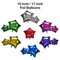 Star Shape Foil Balloon (10 inch / 17 inch)