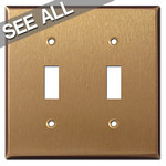Satin Bronze Toggle Switch Plates