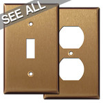 Satin Bronze Wall Plates - Best Selling Sizes
