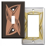 Vortex Contemporary Switch Plate Covers