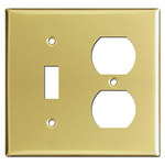 Polished Brass Combination Outlet Covers