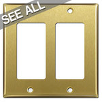 Satin Brass Decora Rocker Switch Plates