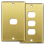 Satin Brass Despard Switch Plates