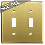 Satin Brass Toggle Switch Plates