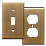Antique Brass Switch Plates