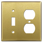 Satin Brass Combination Switch Plates