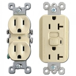 Ivory Outlet Receptacles