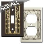 Art Deco Fan Switch Plates & Outlet Covers