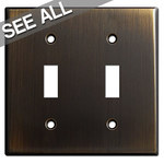 Oil Rubbed Bronze Toggle Switch Plates