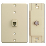 Ivory Phone & Cable Jacks