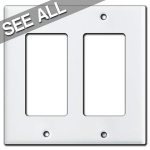 White Decora Rocker Switch Plates