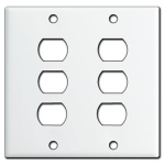 White Despard Switch Plate Covers