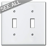 White Toggle Switch Plate Covers