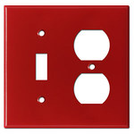 Red Combo Switch Plate Covers