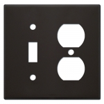 Brown Combination Light Switch Plates