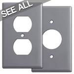Gray Outlet Cover Plates