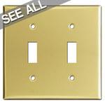 Polished Brass Toggle Light Switch Plates