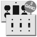 3 Gang Wall Plates