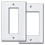 White Old Style Light Switch & Outlet Covers