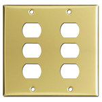 Polished Brass Despard Wall Plates