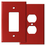 Red Oversized Light Switch Plate Covers