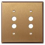 Satin Bronze Pushbutton Wall Plates