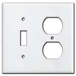 White Combination Switch Plate Covers