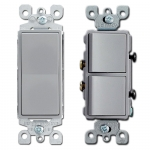 Gray Decora Rocker Switches