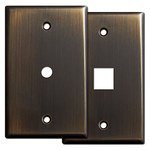 Oil Rubbed Bronze Cable & Phone Jack Wall Plates
