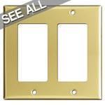 Polished Brass Decora Rocker Switch Plates