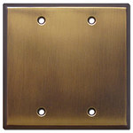 Antique Brass Blank Switch Plate Covers