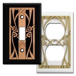 Art Nouveau Decorative Light Switch Covers