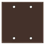 Brown Blank Wall Plates