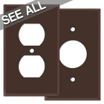 Brown Outlet Covers
