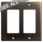Oil Rubbed Bronze Decora Rocker Switch Plates