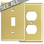 Polished Brass Wall Plates - Best Selling Sizes