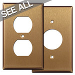 Satin Bronze Receptacle Cover Plates