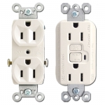 Almond Outlet Receptacles