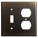 Oil Rubbed Bronze Combo Cover Plates