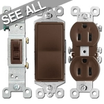 Brown Electrical Outlets & Light Switches