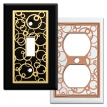 Abstract Circles Decorative Wall Switch Plates