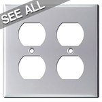 Polished Chrome Wall Outlet Covers